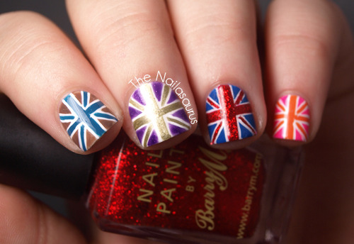 thenailasaurus:  The Nailasaurus: Red, White and Blue.. and also Purple, Pink, Green and Orange!