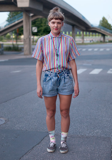 "hel-looks:  Ina, 24 ""I like the 90s, over-the-top looks and lipstick."" 27 July 2012, Kuudes Aisti festival"