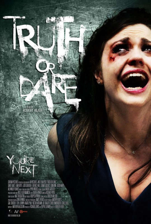 Truth or Dare   Young British boys and girls travel to an isolated cabin after being promised a night of heavy partying. Instead of the fun they hoped for, they meet a killer out to reap vengeance on them for the death of his brother.  i must admit, i was wrong about judging this film from the poster and the description. just seemed like another friday the 13th, nightmare on elm's street freddy jason and whatever lame horror films that exist in this world.  not at all! brilliant plot and filming. the english (as in british) do know how to make good horror films. i think this was my first? not sure.  any good english horror films? on imdb thank you najla for recommending this.