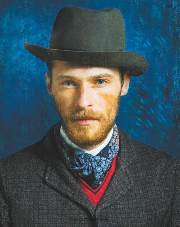 themenissue:  TRIBUTE TO VINCENT VAN GOGH STYLING BY ALESSANDRO CALASCIBETTA PH BY MAURO BALLETTI FOR STYLE MAGAZINE 2011