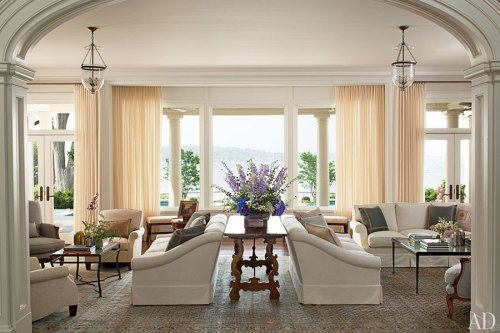 Serene mansion on Long Island's Edenic North Shore, interior design by Mariette Himes Gomez