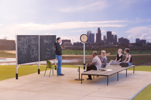 Outdoor offices and classrooms (via studio630). Would this work in your city?