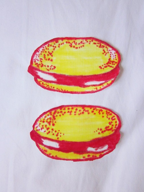 andy warhol hamburger patches!!!!!! now i'm gonna make bananas obviously