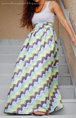 scissorsandthread:  Maxi Dress | A Small Snippet Here is one of the easiest sewing projects ever! If you can sew a tube, you can sew this dress. No messing around with sleeves, no trying to hem scoop necks - using a tank top you own (or buy) all you have to do is attach your fabric tube. Easy as pie. I love my maxi dresses, so I plan on getting some pretty fabric and making a couple of dresses this weekend!