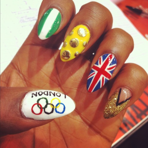 wahnails:  MORE OLYMPIC NAILS