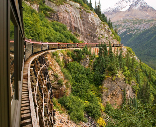 travelingcolors:  Scenic Railroad, Skagway | Alaska (by IronRodArt - Royce Bair)