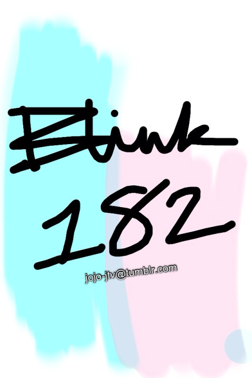 Cause I can, and I'm bored, and Kimmi keeps on reblogging Blink 182 stuff. So now I'm listening to all of their albums again. (edit: added a watermark so no one steals it… It's tumblr you'll never know.)
