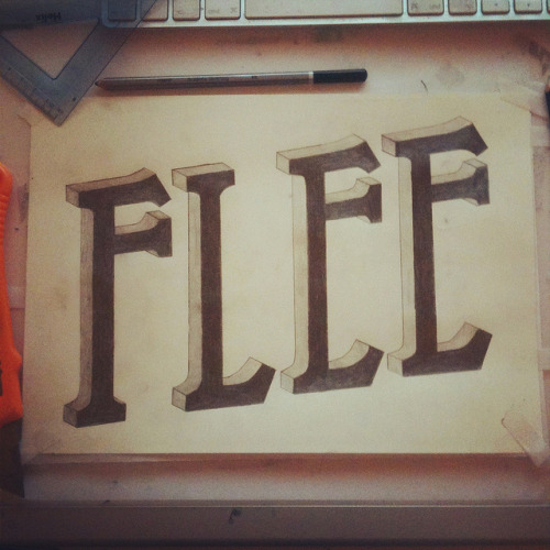 IMG_1192 on Flickr. Lettering for 'Flee' - Logo design im currently working on, see more of this project on me behance http://www.behance.net/wip/11573/22837