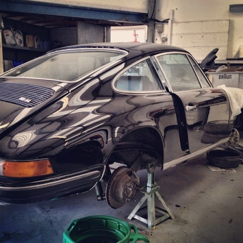 Black S resto. Bring me the lottery. #porsche #911  (Taken with Instagram)