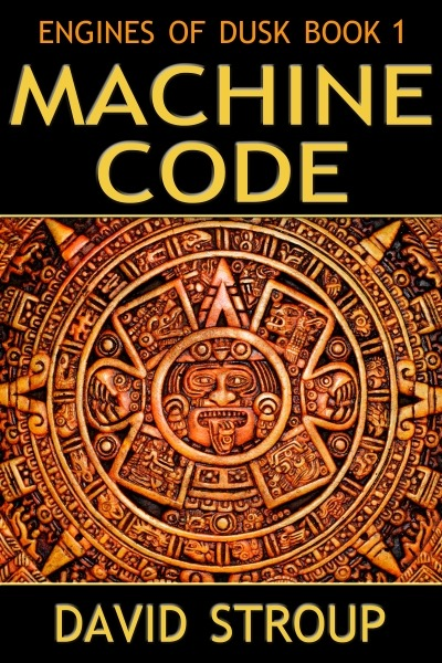 Engines of Dusk Book 1: Machine Code by David Stroup now available in e-book format! On the distant planet Longlast, freelance journalist Temple Argent joins a team of scientists with plans to reconstruct the Cretaceous ecosystem. When one of the scientists is bizarrely murdered, Temple teams up with Kathryn Tamashio to investigate. They find themselves in danger … and falling in love.Meanwhile, in the orbital habitat of Ophiuchi, a young artificial intelligence named Hawkens DuPree considers buying her freedom from the AI who owns her. To complicate matters, her ex-boyfriend Benedictine Thrace pitches up to ask for a small favour. Suddenly her ordered life takes a wild turn and she meets the Spider Lady Ariadne, a woman so integrated with station systems that she lives in permanent free fall.Elsewhere in space, shuttle pilot Aly Castillos crashes her freighter on an alien planet populated by Makers who hold her captive. When human consul Loren Macke arrives to negotiate her freedom, he finds himself kidnapped, as well. Aly escapes with the help of her guard A'thiathialae, and despite their differences, they team up to rescue Loren.As the Human and Maker worlds converge, unseen forces conspire to shift interplanetary alliances. The fate of civilizations hangs in the balance. Will these scattered individuals be able to survive the machinations of the Engines of Dusk? Excerpt & Buy Link.