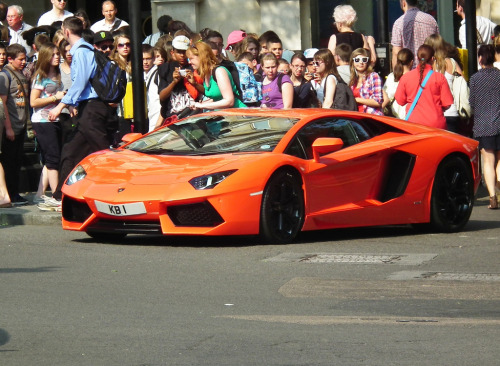 carpr0n:  Everybody is looking Starring: Lamborghini Aventador LP700-4 (by kenjonbro (Celebrating 60 Years 1952-2012))