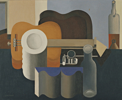 "Still Life  Le Corbusier (Charles-Édouard Jeanneret) (French, born Switzerland. 1887–1965) 1920. Oil on canvas, 31 7/8 x 39 1/4"" (80.9 x 99.7 cm)."