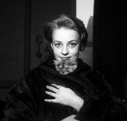 12th-design:  jeanne moreau with cat