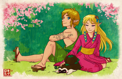 Another cute Zelda drawing of mine :DThese two are just too adorable. You can by an 11x17 print HERE