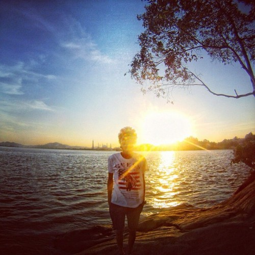 The boy before sunset (Taken with Instagram)