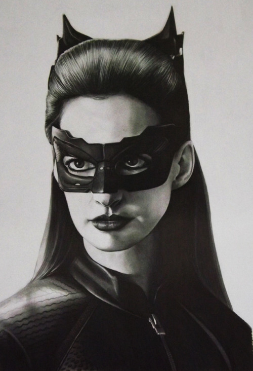 dcplanet:  Anne Hathaway - Catwoman     Illustration by SKPortraitArt Check out the DC Fan Arts #10