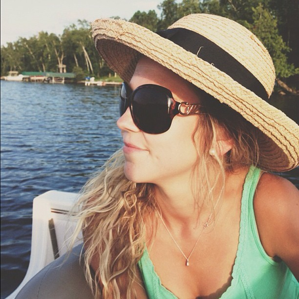 Relaxing with this one. #boating #girl #beautiful #northwoods #nautical  (Taken with Instagram)