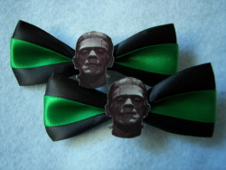 Frankenstein's Monster Hair Clips on Etsy