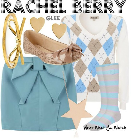 Lea Michele as Rachel Berry - Click here to purchase items from the set above.