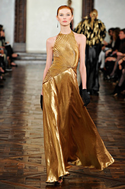 Olga Sherer at Ralph Lauren F/W 2012-13.
