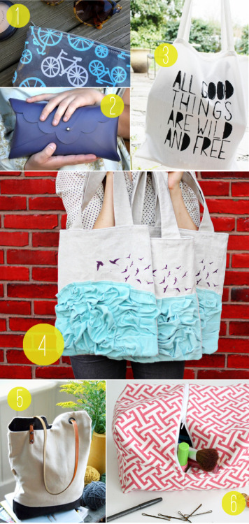love the ruffled tote with the seagulls..can you say diy