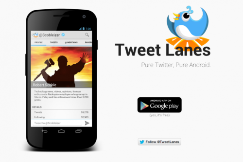 Tweet Lanes: The Most Promising Android Twitter Client Let's be honest, most of the third-party Twitter clients on Android are complete crap. Outside of select few, they are slow, frequently crash, and for some clients, significant updates can take months, if they even come at all. But there is one new app that has the ability to change the stereotype of third-party Twitter clients on Android. via Current Editorials