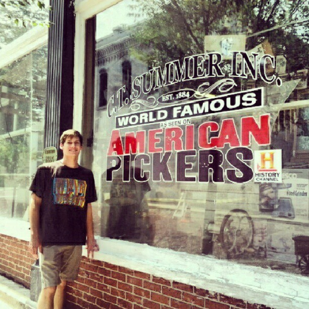 I can't believe american pickers came to lil ole newberry! (Taken with Instagram)