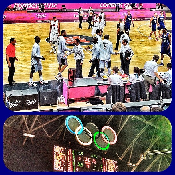 #TeamUSA first game victory lets go USA #london2012  (Taken with Instagram at London 2012 Basketball Arena)
