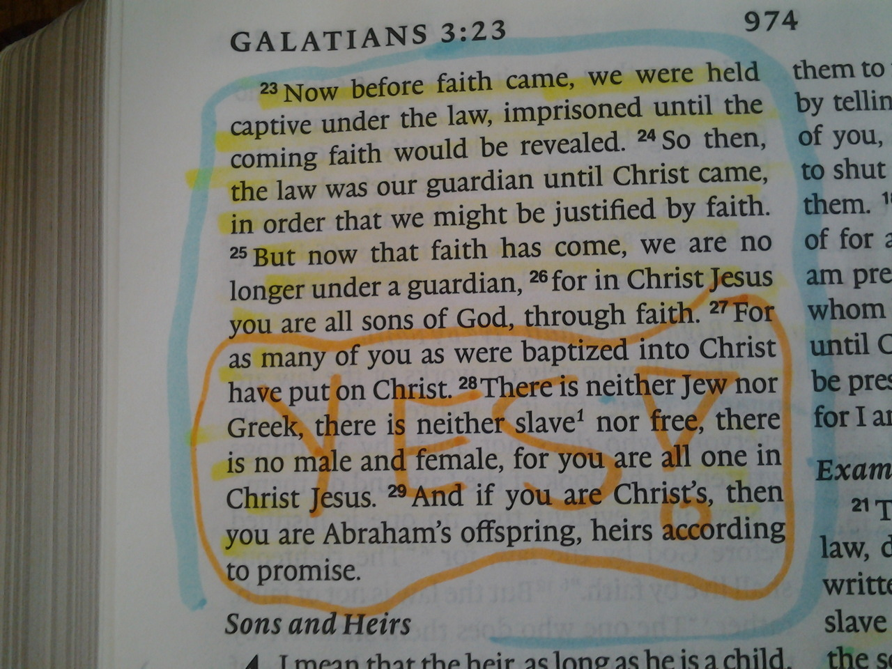 Studying Galatians with Matt. :) I think we both agree this deserves to be tumblr famous.