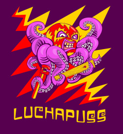 LuchaPuss T-shirt design