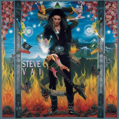 ":Steve Vai- ""Passion and Warfare"". . Vai established himself as both a frontman and a singular guitar virtuoso with the release of 1990's ""Passion and Warfare"". Recorded after his stints as a sideman for David Lee Roth and David Coverdale, P&W features Vai at his most aggressive and extreme- couples with deft sonic experimentation.  The album contains the instrumental masterpiece ""For the Love of God"", the boogie grooves of ""The Audience is Listening"" and ""Greasy Kid's Stuff"", the hauntingly beautiful ""Sisters"", and the fusion-esque ""Blue Powder"". The album proved to be a showcase for Vai's incredibly fast fretboard technique as well as his effects-laden approach to coaxing a myriad of incredible sounds from his instrument."