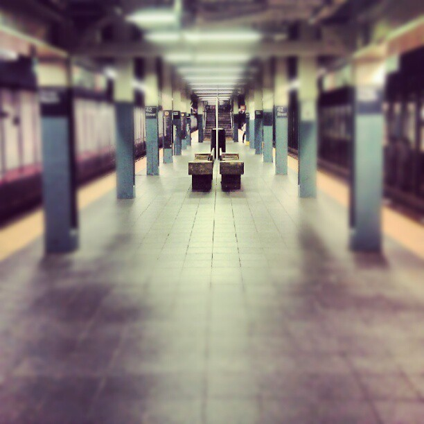 #Sunday meeting. #nyc #subway (Taken with Instagram)