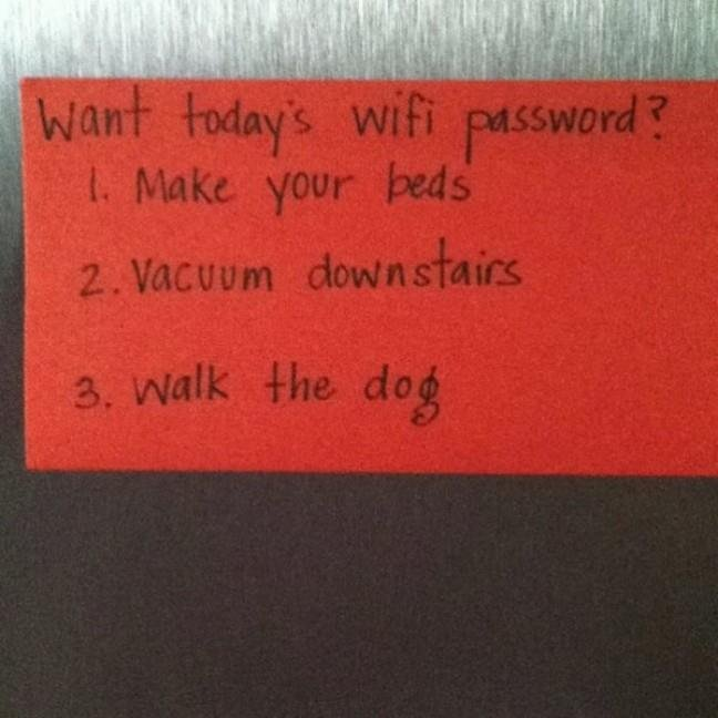 Access to wifi password