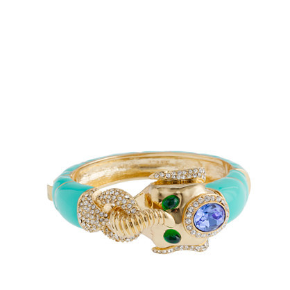 (via Enameled elephant bracelet - bracelets - Women's jewelry - J.Crew)
