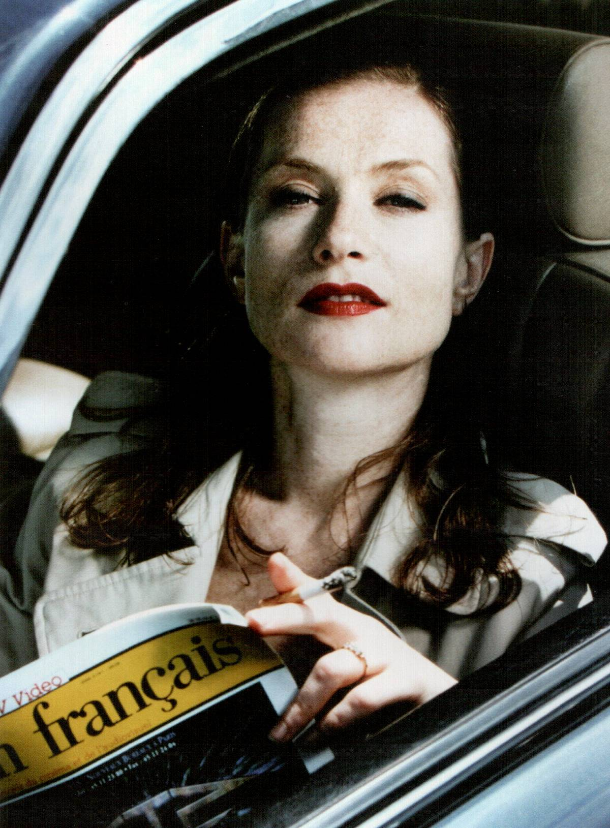 gasstation:  Isabelle Huppert by Helmut Newton, 1977