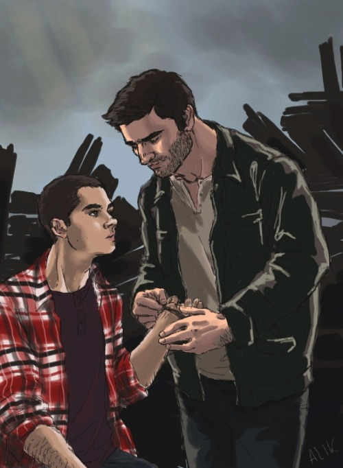 saucefactory:  captaindick:  The first charm Stiles ever got was from Derek (random background is random).  GORGEOUS FANART IS GORGEOUS, THAT'S WHAT.