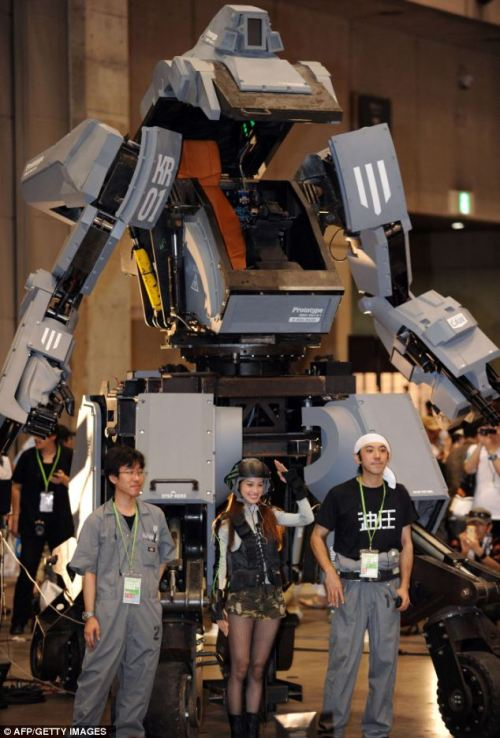 error888:  Dial carefully! Meet Kuratas, the million dollar robot which weighs four tons, shoots when you smile and is controlled by iPhone | Mail Online