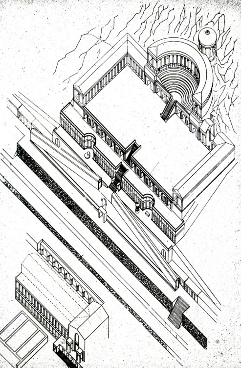 alapiseira:  ARCHITECTURAL AXONOMETRY | 015 | SOURCE Temple of Fortune, Praeneste.