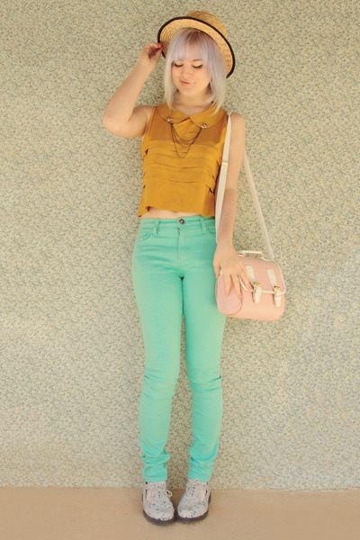 Bright Pastels - via chictopia