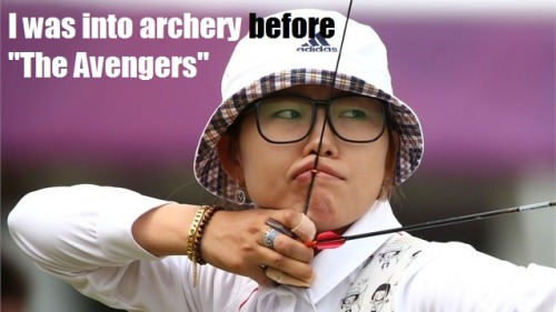 charlielightninglightning:  All these hipster South Korea archers.