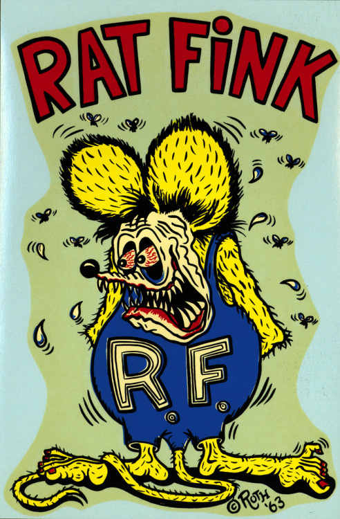 "Large Rat Fink water decal by Ed ""Big Daddy"" Roth (1963)"