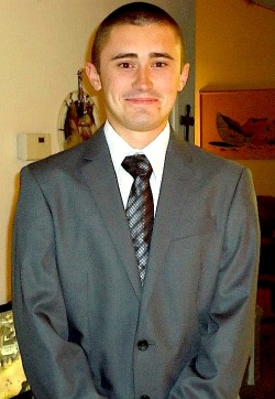 Me in a suit from a year ago. HaHa, I look so young XD