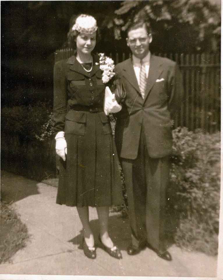 Today is the 71st wedding anniversary of my maternal grandparents! That's Rose on the left and James on the right. It was the first marriage for both.   My grandmother died before I was born and my grandfather died when I was just a kid. They met later in life and loved each other a lot and without them I wouldn't be here and my mom wouldn't be here and my brothers wouldn't be here and my sister wouldn't be here and my cousins wouldn't be here and my nephews wouldn't be here my new niece Moriah wouldn't be here, either.   Oh, I didn't mention that? Yeah. She's the best.   Anyway, happy anniversary, Jim and Rose, wherever you are.