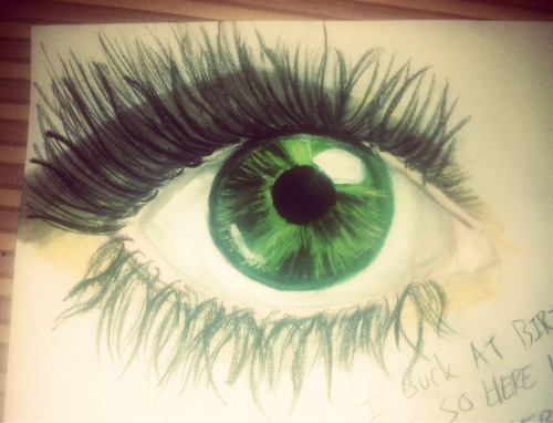 First attempt at painting penciling a legit eye ball…not toooo bad I guess