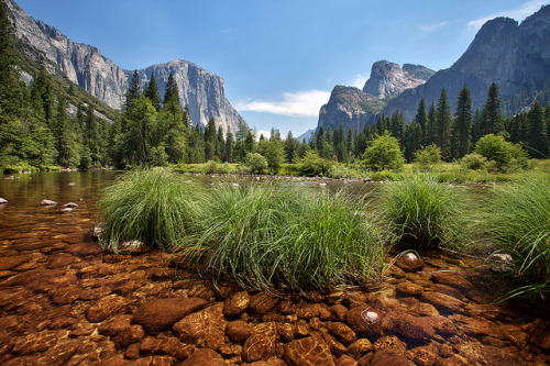 Merced River Bed in Yosemite Valley by gavgristle on Flickr.