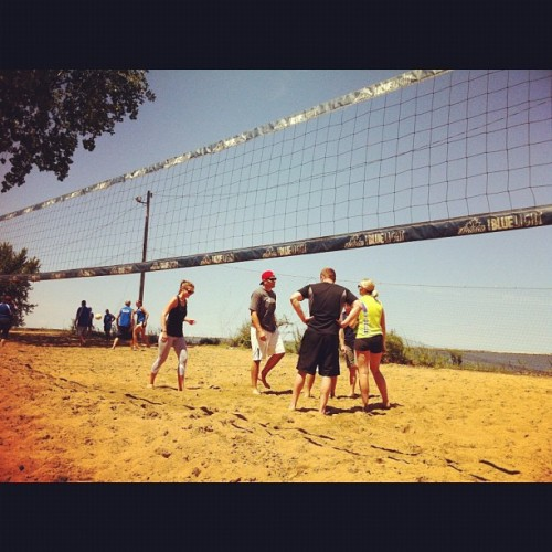 Perfect day for some beach volleyball.  (Taken with Instagram at Whiskey Island Marina)