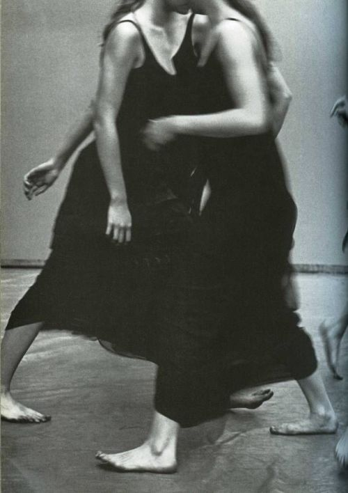 shoulderblades:  enchanting mood, peter lindbergh for vogue italia, 1997