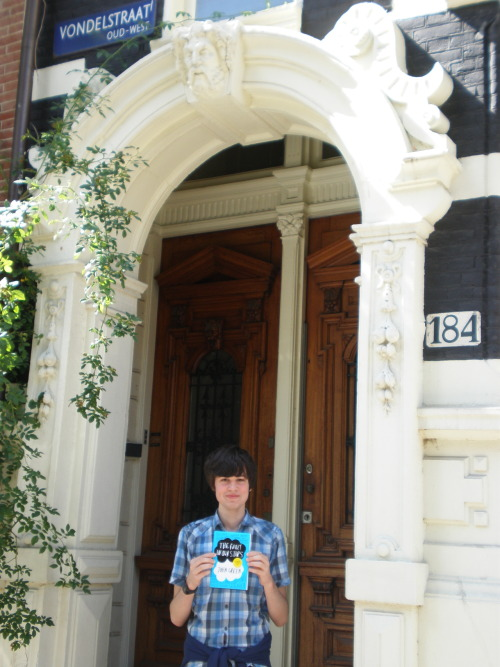 fishingboatproceeds:  recreationalfoolishness:  I took a copy of The Fault in Our Stars to Peter van Houten's house.  Oh hi there Peter Van Houten's house. I remember walking around the Vomdelpark and picking you.