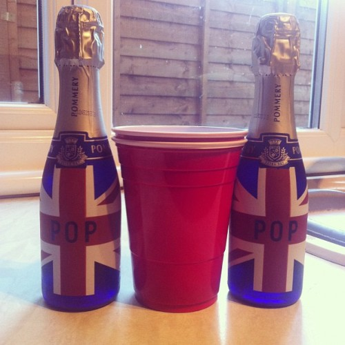 #Reppin #TeamGB 🇬🇧 4 the Olympics with these 2 Rosé #Pommery champagne bottles.  (Taken with Instagram)