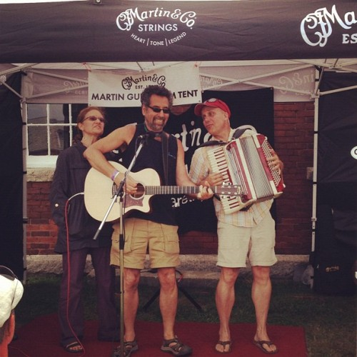 Accordion rock at the Martin Jam Tent at @NewportFolkFest! (Taken with Instagram)